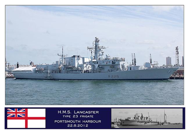 HMS Lancaster Portsmouth 22 8 12