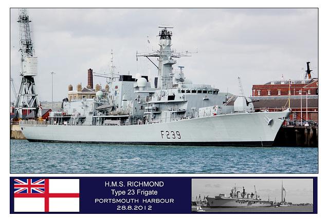 HMS Richmond Portsmouth 28 8 2012