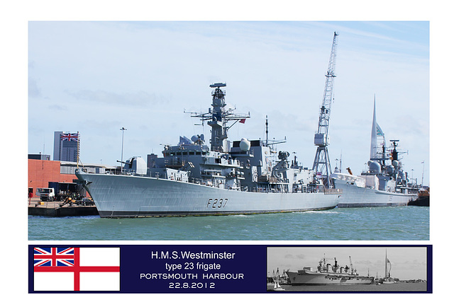 HMS Westminster Portsmouth 22 8 2012