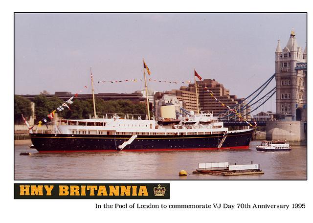 HMY Britannia VJ Day 1995 Pool of London