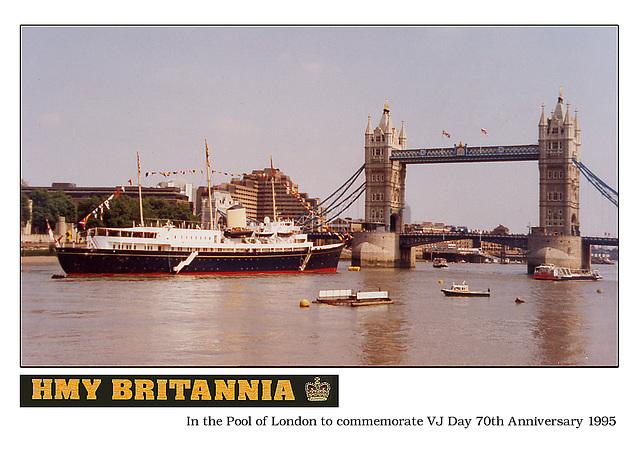 HMY Britannia VJ Day 1995 Pool of London c
