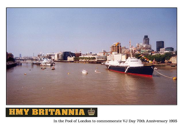 HMY Britannia VJ Day 1995 Pool of London d