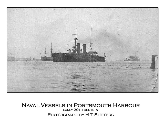 Naval vessels in Portsmouth Harbour by HTS