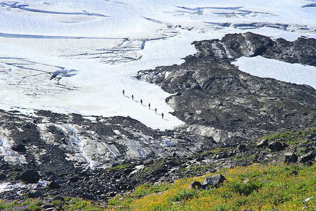 Coming Down off the Glacier