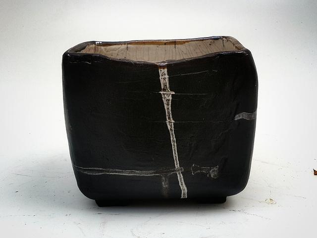 Pot Ikébana Raku  L 16 H 15 l 10