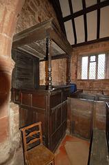 Church Warden's Pew, Shotwick Church. Cheshire