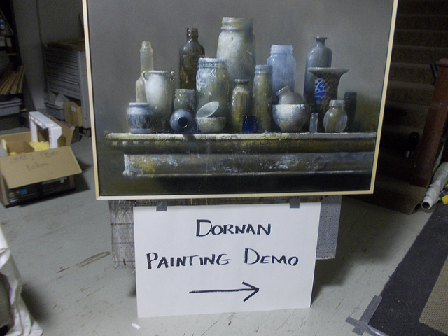 My friend and I attended this demo by local artist David Dornan