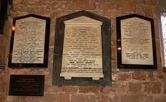Nevitt-Bennett Memorials, Shotwick Church. Cheshire