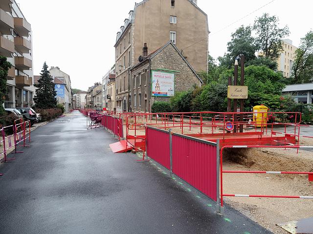 BESANCON: Travaux du tram 2013.06.24 - 03.