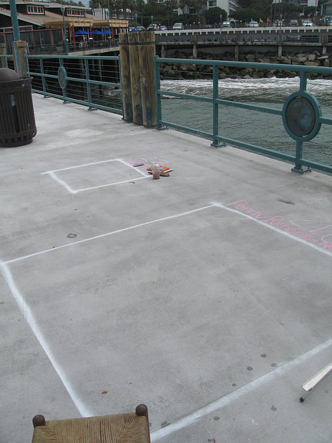 Chalk at Redondo Pier:  Almost Noon