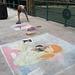Chalk at Redondo Pier: Around 1:30pm