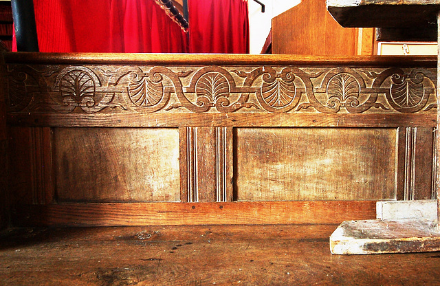 Pew, St Margaret's Church, South Elmham, Suffolk