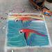 Chalk at Redondo Pier:  Macaws