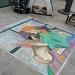 Chalk at Redondo Pier:  Encampment