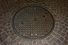 Leipzig 2013 – Manhole cover of Moritz Walther of Lugau