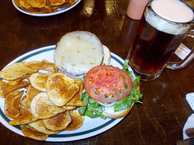 Veggie Burger with pepperjack cheese