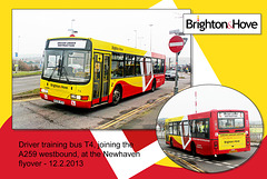 Brighton & Hove Buses - training bus T4 - Newhaven - 12.2 2013