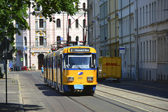 Leipzig 2013 – Tram 2111 on the Friedrich-Ebert-Straße