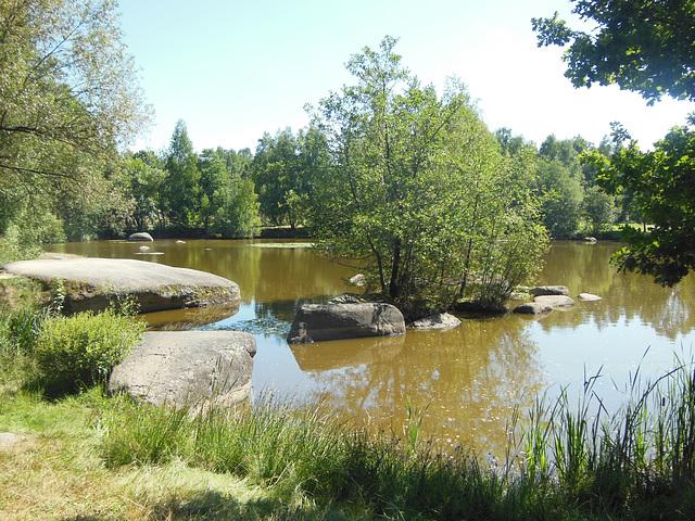 Lageto rande de la naturparko Blockheide