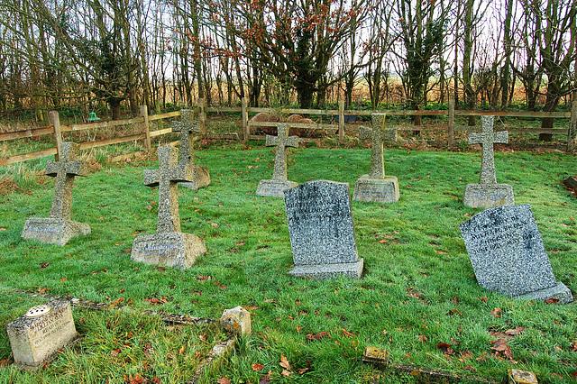 Frostenden Churchyard. Hickling Memorials