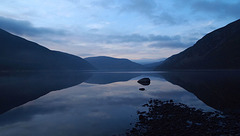 The Blue Hour, Loch Morie, Ross-shire, Scottish Highlands