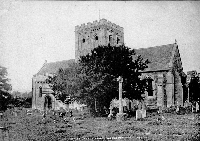 Iffley Church, Cross & Old Yew Tree, 10044JV