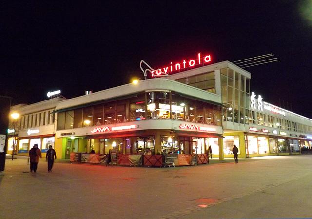 Lasipalatsi at Night in Helsinki, April 2013