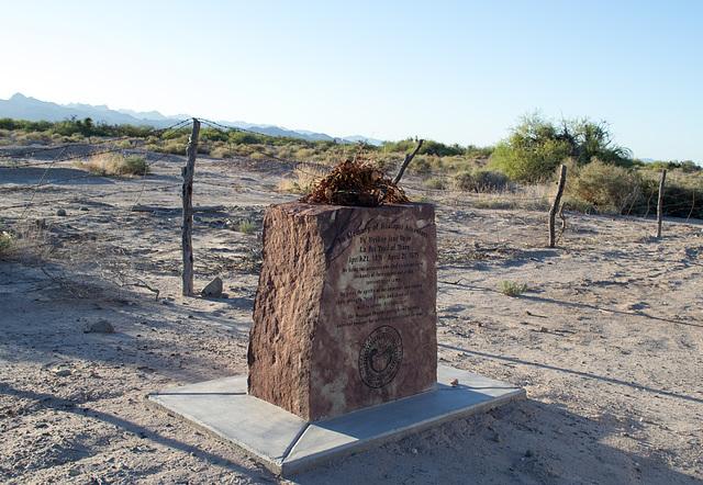 Ehrenberg, AZ: Hualapai concentration camp site (0727)