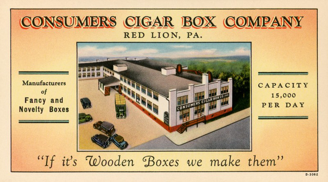 Consumers Cigar Box Company, Red Lion, Pa.