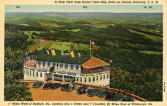 Grand View Ship Hotel, 63-Mile View, Lincoln Highway, West of Bedford, Pa.