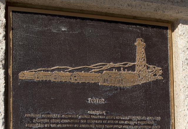 Poston, AZ Japanese Internment Camp monument (0709)