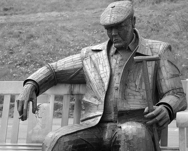 Freddie Gilroy Sculpture at Scarborough