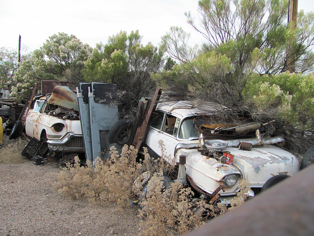 1957 and 1956 Cadillacs