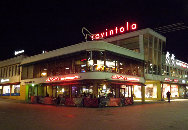 The Lasipalatsi at Night in Helsinki, April 2013