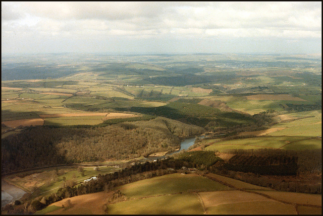 aerial view of the Tavy Valley