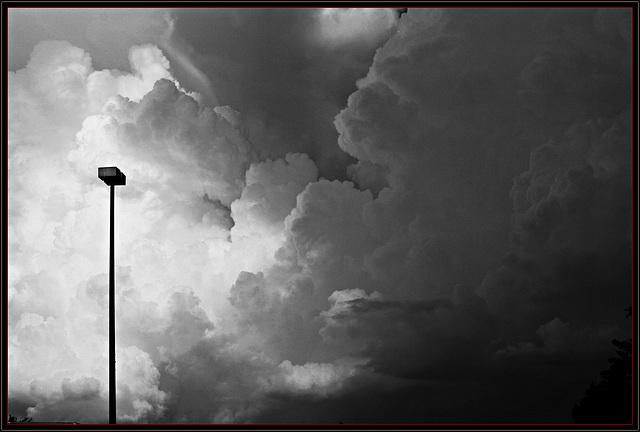 Summer Storm Clouds B/W