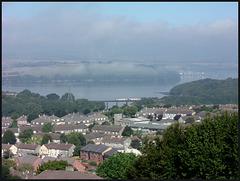 mist over the Tamar