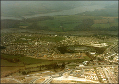 aerial view of Ernesettle in 1984
