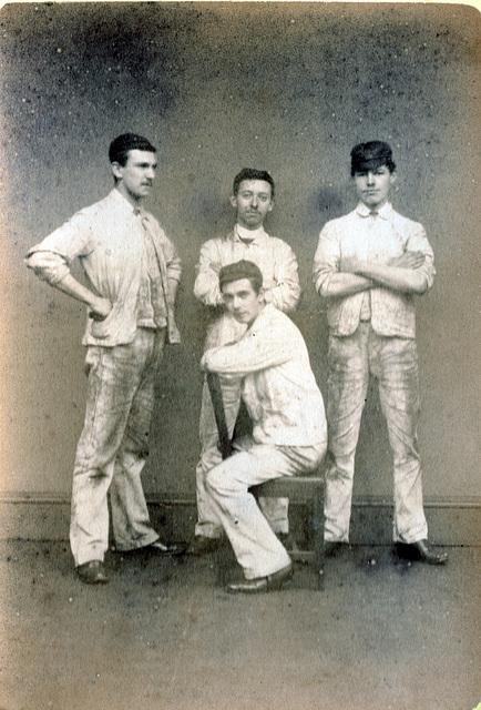 Cricketers, Leeds, c1880