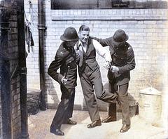 c1930s East Suffolk Police Joke photo Resisting Arrest