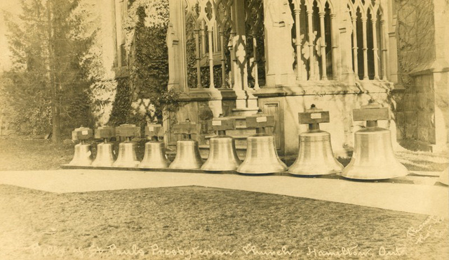 Bells of St. Paul's Presbyterian Church, Hamilton, Ontario, 1906