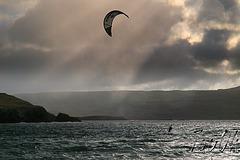 Kite Surfer At Balnakeil Bay