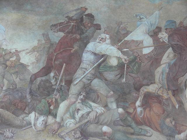 Fresko - Bauernschlacht 1705