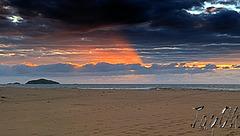 Sundown Over Sandwood Beach