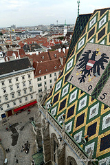 Views from the roof of St Stephen's Cathedral, Vienna