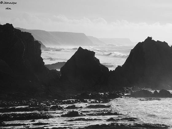 The rugged coastline of North Devon