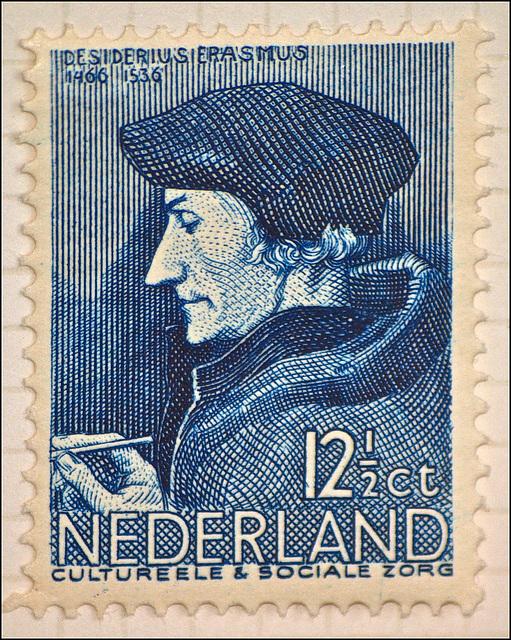 Dutch Erasmus Postage Stamp