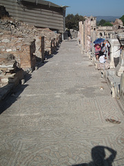 Mosaic floor next to the houses at Ephesus