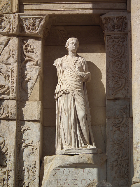 Statue at the Library at Ephesus
