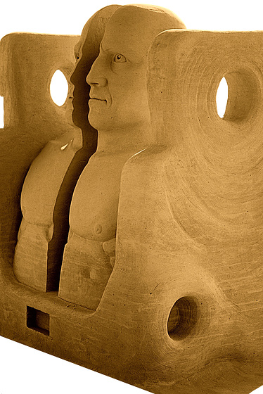 """Listening To Life + Death""  ~ Sandsculpture by Benjamin Probanza ❖ EXPLORE ❖ PHOTO ❖"